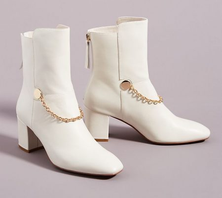 Modern and Chic with White Leather Boots